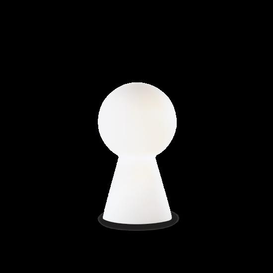 Ideal Lux Birillo 000268 TL1 Small Bianco Φωτιστικό Επιτραπέζιο Μοντέρνο Λευκό