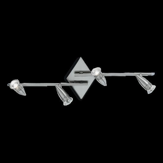 Ideal Lux Alfa 006321 PL4 Nickel Φωτιστικό Οροφής Μοντέρνο Σποτ Νίκελ