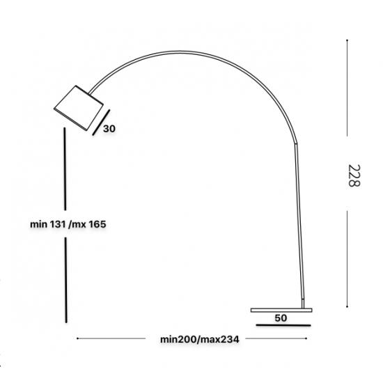 Ideal Lux Dorsale 012605 PT1 Bianco Φωτιστικό Δαπέδου Μοντέρνο Λευκό Ματ