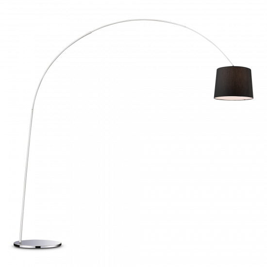 Ideal Lux Dorsale 014371 PT1 Nero Φωτιστικό Δαπέδου Μοντέρνο Μαύρο Ματ
