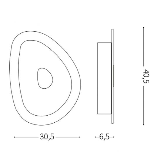 Ideal Lux Geko 018508 PL3  Φωτιστικό Οροφής Μοντέρνο Λευκό με Διαφάνεια