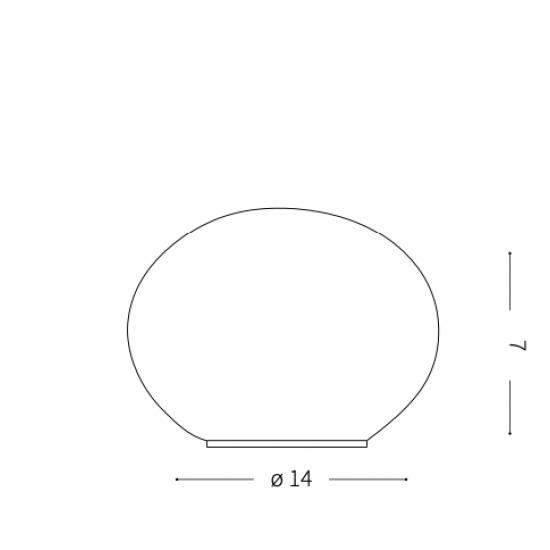 Ideal Lux Candy 032078 TL1  Φωτιστικό Επιτραπέζιο Πορτατίφ Μοντέρνο Λευκό
