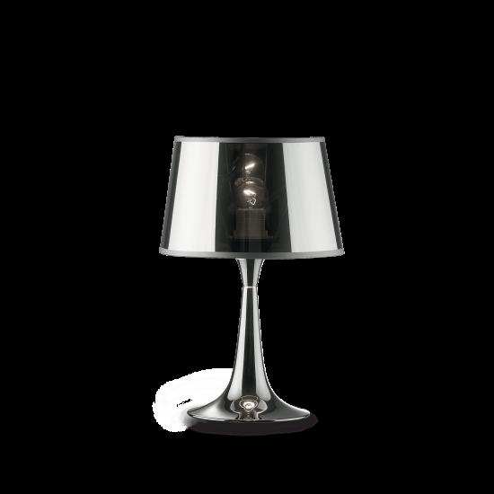 Ideal Lux London Cromo 032368 TL1 Small Φωτιστικό Επιτραπέζιο Μοντέρνο Χρώμιο