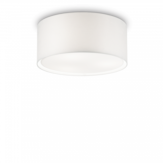 Ideal Lux Wheel 036014 PL3 Φωτιστικό Οροφής  Μοντέρνο Λευκό Με Ύφασμα