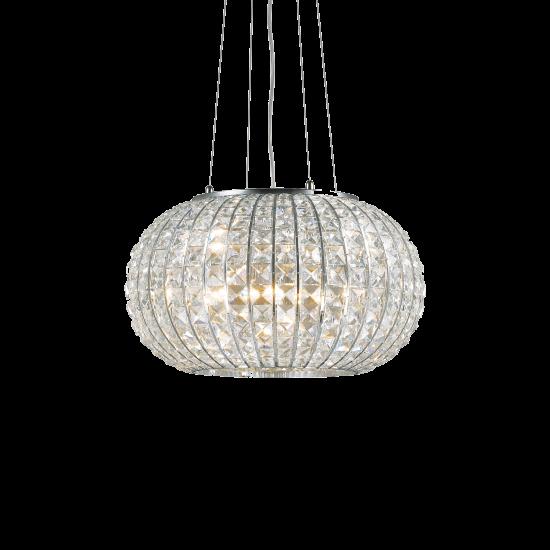 Ideal Lux Calypso 044194 SP3 Φωτιστικό Κρεμαστό Μοντέρνο Με Κρυστάλλους