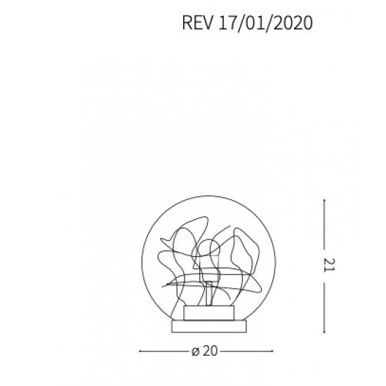 Ideal Lux Mapa Max 045139 TL1 D20  Φωτιστικό Επιτραπέζιο Πορτατίφ Μοντέρνο Με Νήματα Αλουμινίου