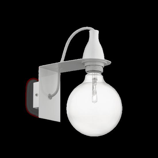 Ideal Lux Minimal 045191 AP1 Bianco Φωτιστικό Τοίχου Απλίκα Μοντέρνο Λευκό