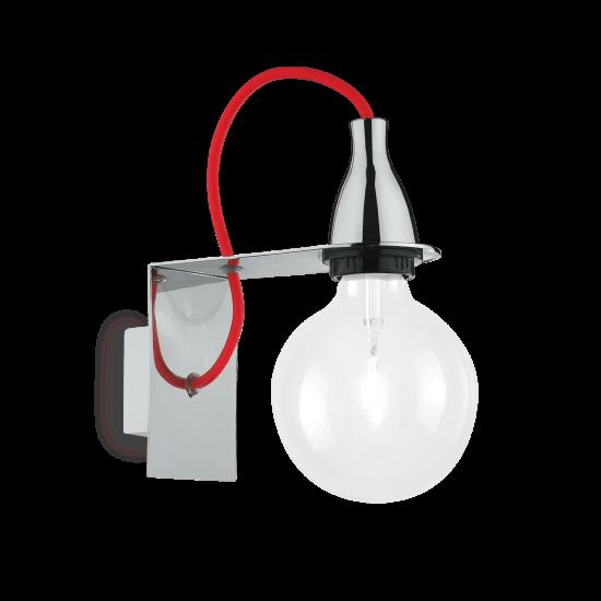 Ideal Lux Minimal 045207 AP1 Cromo Φωτιστικό Τοίχου Απλίκα Μοντέρνο Χρωμέ