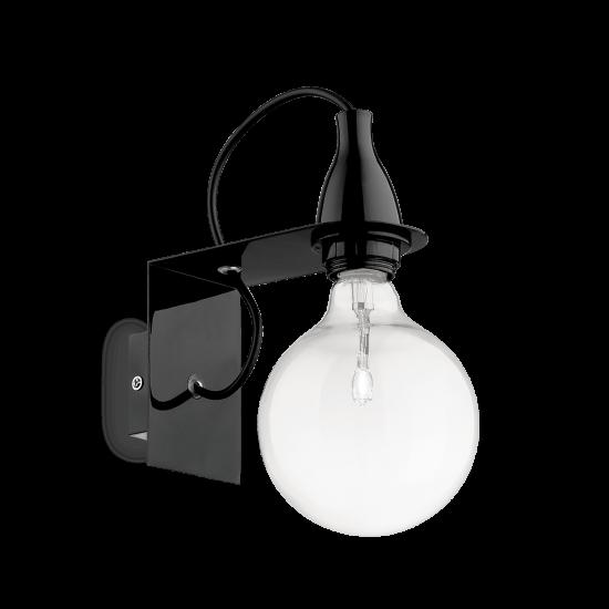 Ideal Lux Minimal 045214  AP1 Nero Φωτιστικό Τοίχου Απλίκα Μοντέρνο Μαύρο