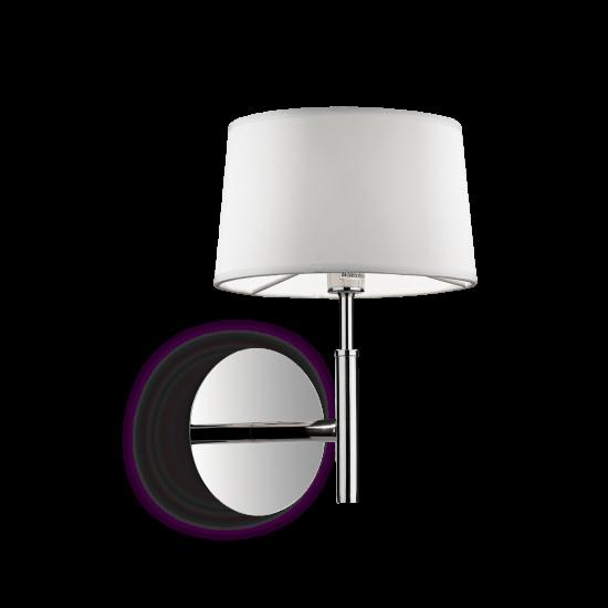 Ideal Lux Hilton 075471 AP1 Bianco Φωτιστικό Τοίχου Απλίκα Μοντέρνο Λευκό Με Ύφασμα