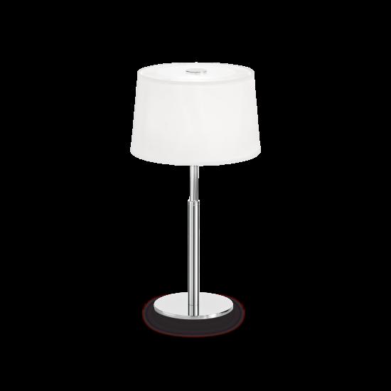 Ideal Lux Hilton 075525 TL1 Bianco Φωτιστικό Επιτραπέζιο Πορτατίφ Μοντέρνο Λευκό Με Ύφασμα