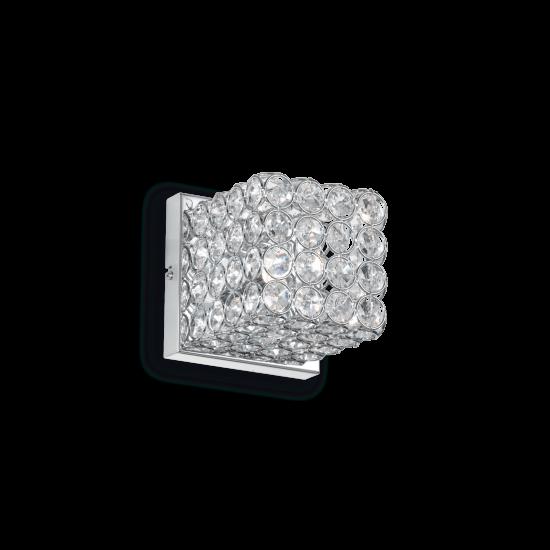 Ideal Lux Admiral 080284 AP1 Φωτιστικό Τοίχου Απλίκα  Μοντέρνο Με Κρυστάλλους