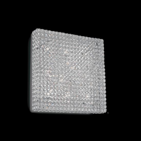 Ideal Lux Admiral 080291 PL10  Φωτιστικό Τοίχου Απλίκα  Μοντέρνο Με Κρυστάλλους