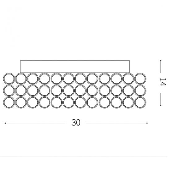 Ideal Lux Admiral 080338 PL4  Φωτιστικό Τοίχου Απλίκα  Μοντέρνο Με Κρυστάλλους