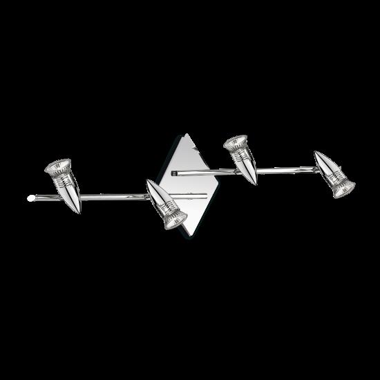 Ideal Lux Alfa 089584 PL4 Cromo Φωτιστικό Οροφής Μοντέρνο Σποτ Χρώμιο