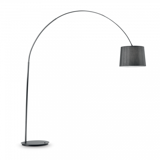 Ideal Lux Dorsale 091983 PT1 Total Black Φωτιστικό Δαπέδου Μοντέρνο Μαύρο Ματ