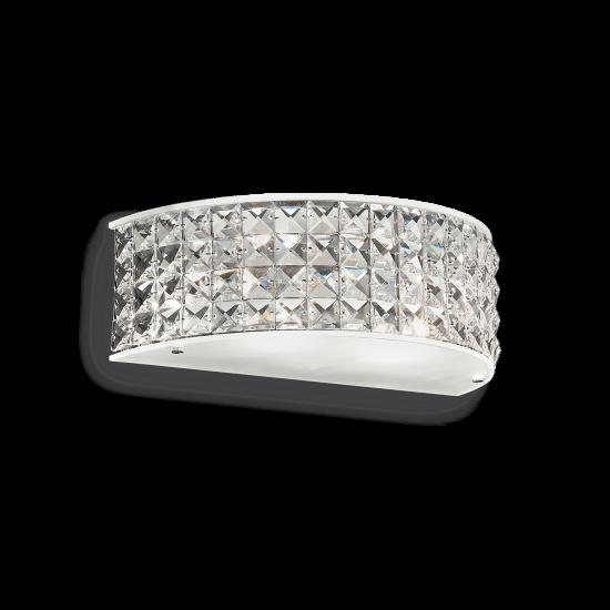 Ideal Lux Roma 093086 AP2 Φωτιστικό Τοίχου Απλίκα  Μοντέρνο Με Κρυστάλλους