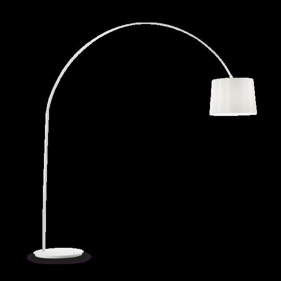 Ideal Lux Dorsale 095127 PT1 Total White Φωτιστικό Δαπέδου Μοντέρνο Λευκό Ματ