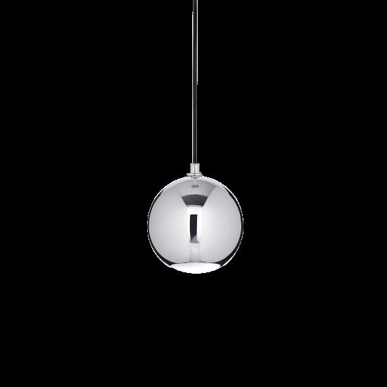 Ideal Lux Mr Jack 116457 SP1 Small Cromo Φωτιστικό Κρεμαστό Μοντέρνο Χρωμέ