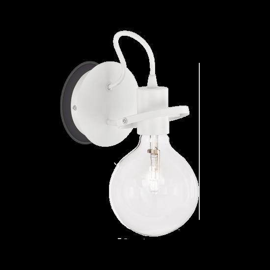 Ideal Lux Radio 119465 AP1 Bianco Φωτιστικό Τοίχου Απλίκα  Μοντέρνο Λευκό