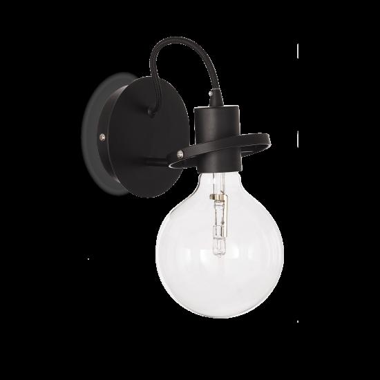 Ideal Lux Radio 119502 AP1 Nero Φωτιστικό Τοίχου Απλίκα  Μοντέρνο Μαύρο