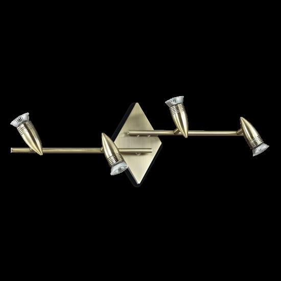 Ideal Lux Alfa 119830 PL4 Brunito Φωτιστικό Οροφής Μοντέρνο Σποτ Αντικέ