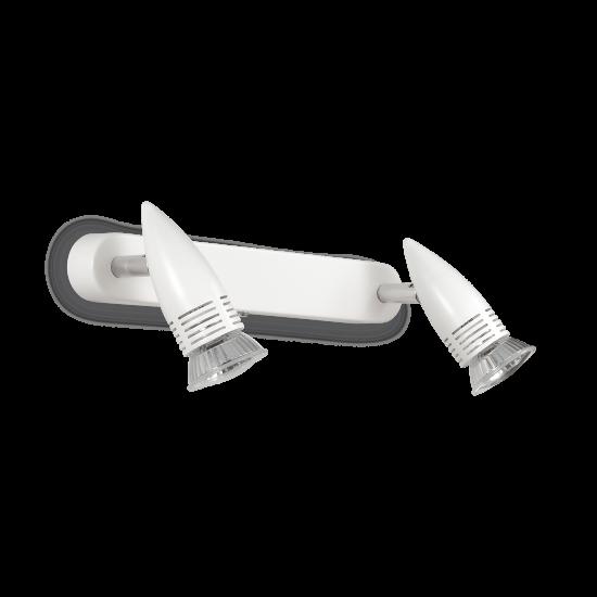 Ideal Lux Alfa 122717 AP2 Bianco Φωτιστικό Τοίχου Μοντέρνο Σποτ Λευκό
