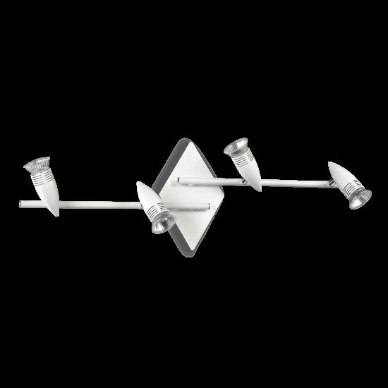 Ideal Lux Alfa 122731 PL4 Bianco Φωτιστικό Οροφής Μοντέρνο Σποτ Λευκό