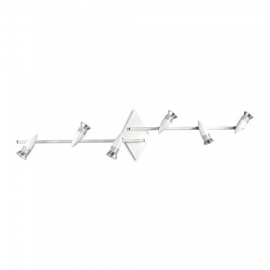 Ideal Lux Alfa 122748 PL6 Bianco Φωτιστικό Οροφής Μοντέρνο Σποτ Λευκό