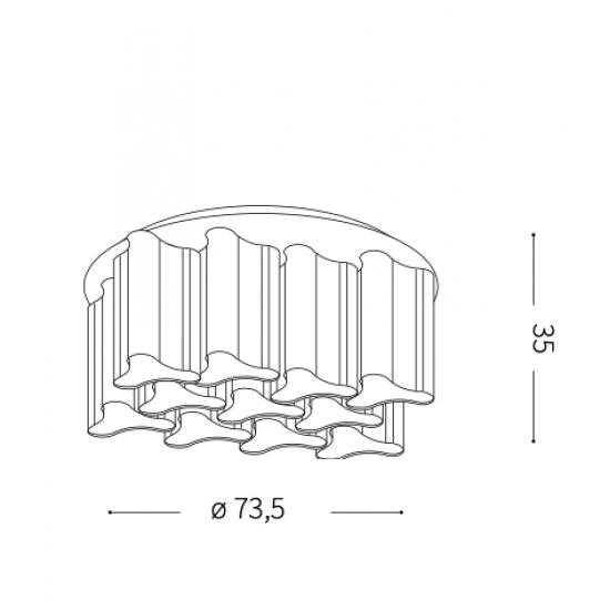 Ideal Lux Compo 125510 PL10 Bianco Φωτιστικό Οροφής Μοντέρνο Λευκό Ματ