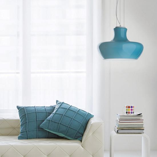 Ideal Lux Aladino 137292 SP1 D30 Azzuro Φωτιστικό Κρεμαστό Μοντέρνο Γαλάζιο