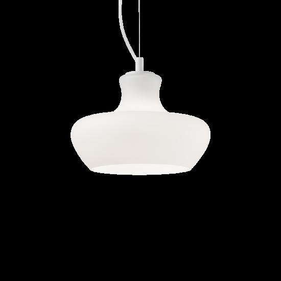 Ideal Lux Aladino 137315 SP1 D30 Bianco Φωτιστικό Κρεμαστό Μοντέρνο Λευκό Ματ