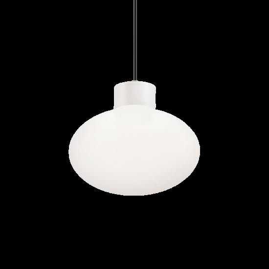 Ideal Lux Clio 144252 MSP1 Bianco Φωτιστικό Εξωτερικού Χώρου Κρεμαστό Λευκό Ματ