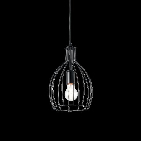 Ideal Lux Ampolla 148151 SP1 Rame Φωτιστικό Κρεμαστό Κλασσικό Μαύρο