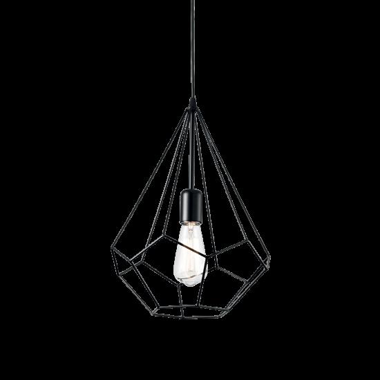 Ideal Lux Ampolla 148175 SP1 Nero Φωτιστικό Κρεμαστό Κλασσικό Μαύρο