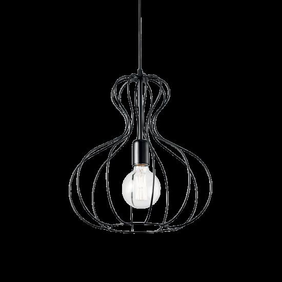 Ideal Lux Ampolla 148502 SP1 Nero Φωτιστικό Κρεμαστό Κλασσικό Μαύρο