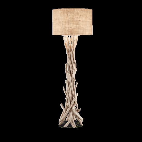 Ideal Lux Driftwood 148939 PT1 Φωτιστικό Δαπέδου Κλασσικό Ξύλο Καμβάς