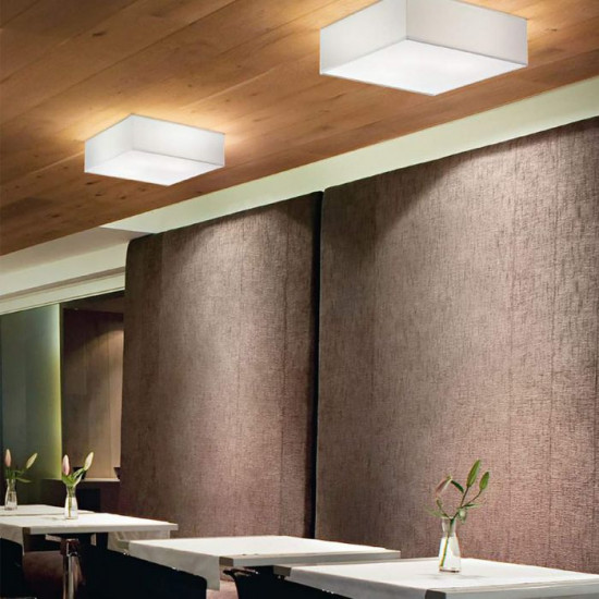 Ideal Lux Ritz 152899 PL4 D50 Φωτιστικό Οροφής Μοντέρνο Λευκό Με Ύφασμα