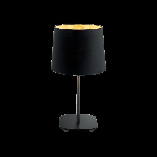 Ideal Lux Nordik 161686 TL1 Φωτιστικό Επιτραπέζιο Πορτατίφ Μοντέρνο Μαύρο Με Χρυσό