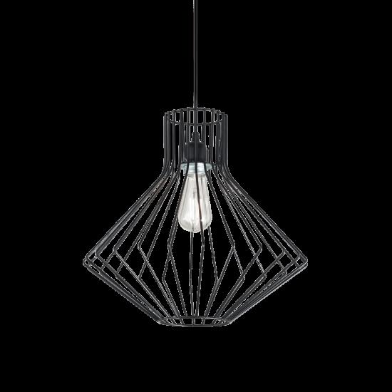 Ideal Lux Ampolla 167497 SP1 Nero Φωτιστικό Κρεμαστό Κλασσικό Μαύρο