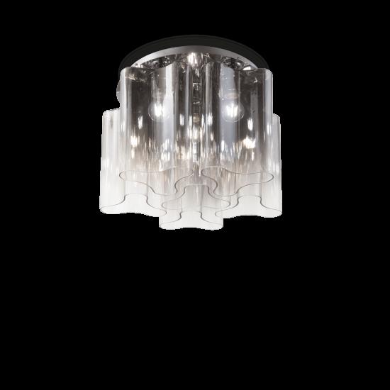 Ideal Lux Compo 172828 PL6 Fumè Φωτιστικό Οροφής Μοντέρνο Φιμέ Γκρι