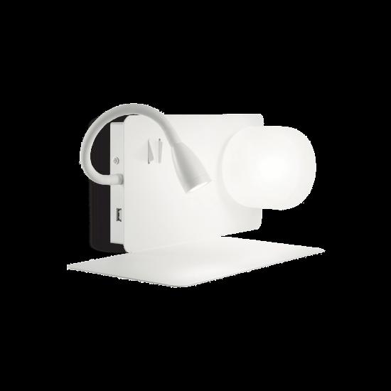 Ideal Lux Book 174792 Book-1 AP2 Bianco Φωτιστικό Τοίχου Απλίκα Μοντέρνο Λευκό Ματ Ανάγνωσης