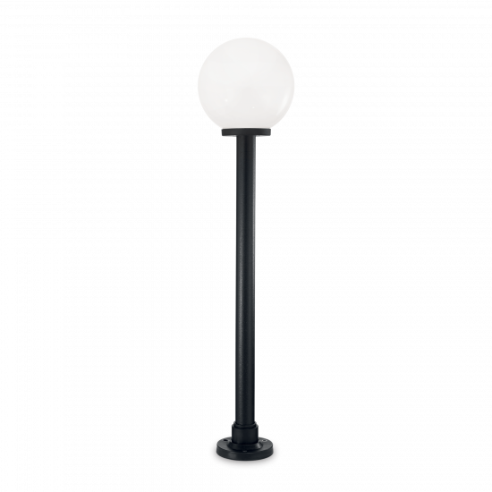 Ideal Lux Classic Globe 187525 PT1 Big Bianco Φωτιστικό Εξωτερικού Χώρου Εδάφους Μαύρο Με Λευκό Κάλυμα