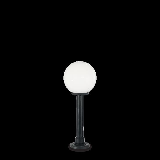Ideal Lux Classic Globe 187549 PT1 Small Bianco Φωτιστικό Εξωτερικού Χώρου Εδάφους Μαύρο Λευκό