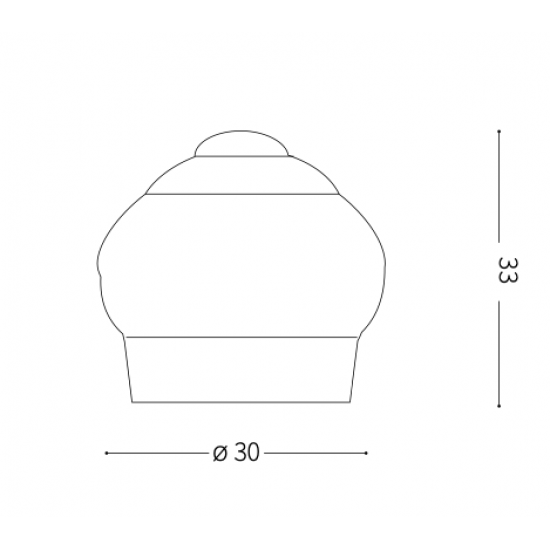 Ideal Lux Cupcake 194417 TL1 Bianco Φωτιστικό Επιτραπέζιο Μοντέρνο Λευκό Σε Σχήμα Cupcake