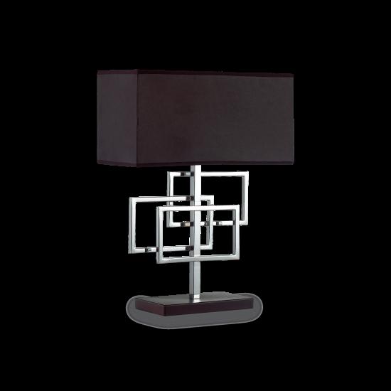 Ideal Lux Luxury 201078 TL1 Cromo Φωτιστικό Επιτραπέζιο Πορτατίφ Μοντέρνο Μαύρο Με Χρώμιο