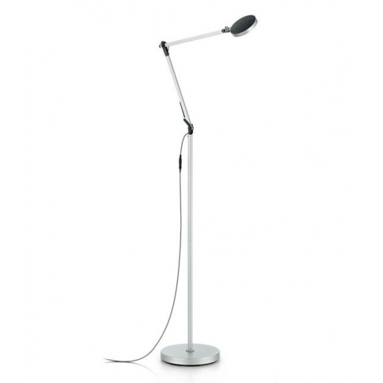 Ideal Lux Futura 204956 PT1 Alluminio Φωτιστικό Δαπέδου Μοντέρνο Ασημί