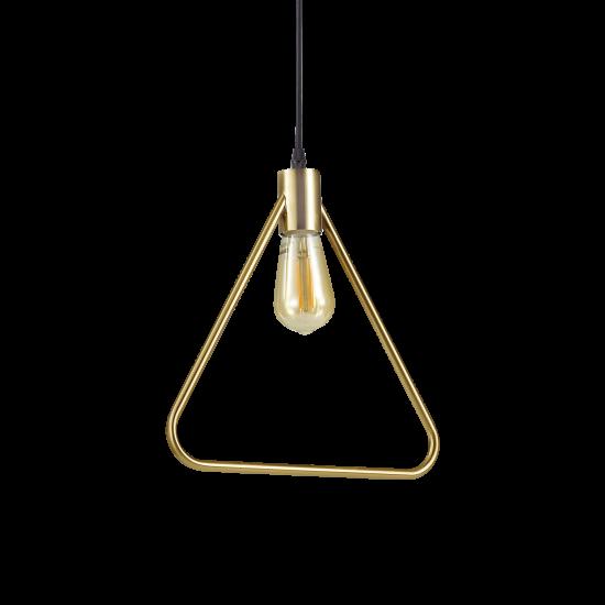 Ideal Lux Abc 207834 SP1 Triangle Φωτιστικό Κρεμαστό Κλασσικό Μαύρο Οξυντέ Τρίγωνο