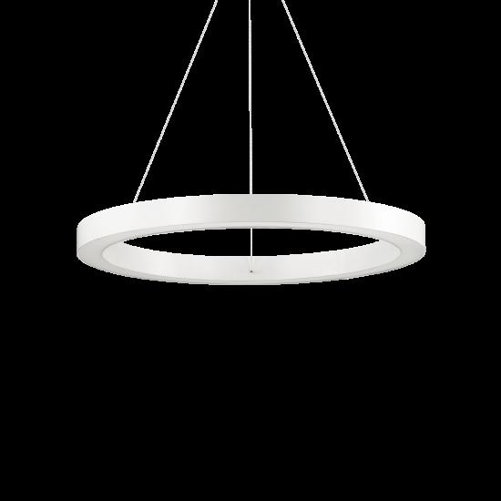 Ideal Lux Oracle 211398 D60 Round Bianco Φωτιστικό Κρεμαστό Στρογγυλό Μοντέρνο Λευκό Ματ
