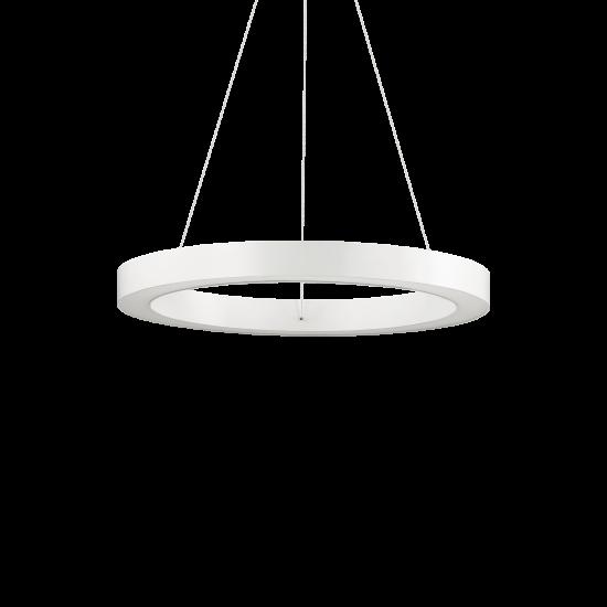 Ideal Lux Oracle 211404 D50 Round Bianco Φωτιστικό Κρεμαστό Στρογγυλό Μοντέρνο Λευκό Ματ